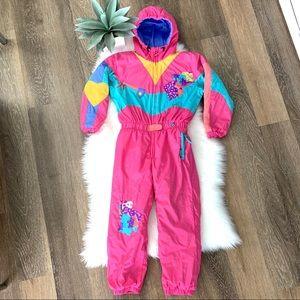 OBERMEYER Vintage Girls Ski suit Snowsuit Size 7